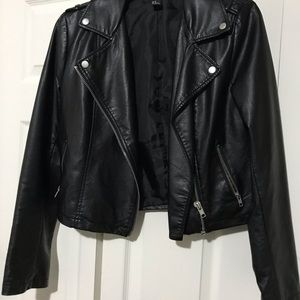 Leather Jacket - Forever 21